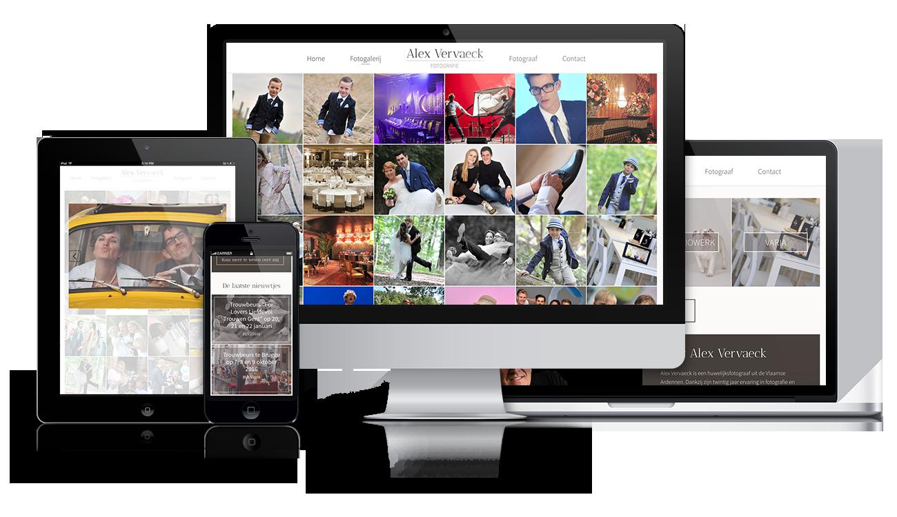 project – Alex Vervaeck website – screens