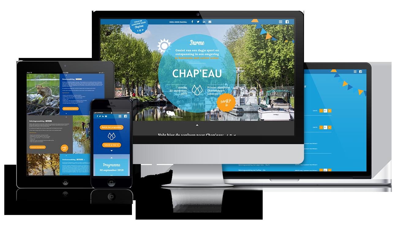 project – Chap'eau webshop/website – screens