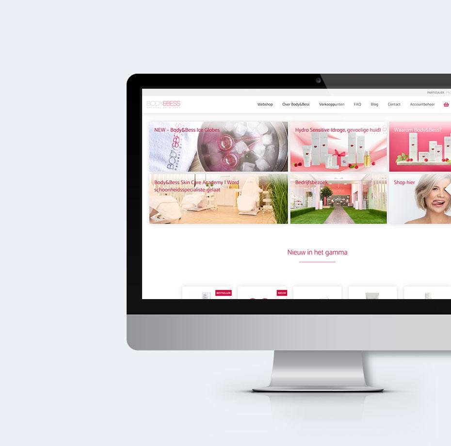 Body&Bess Webshop – screenshots