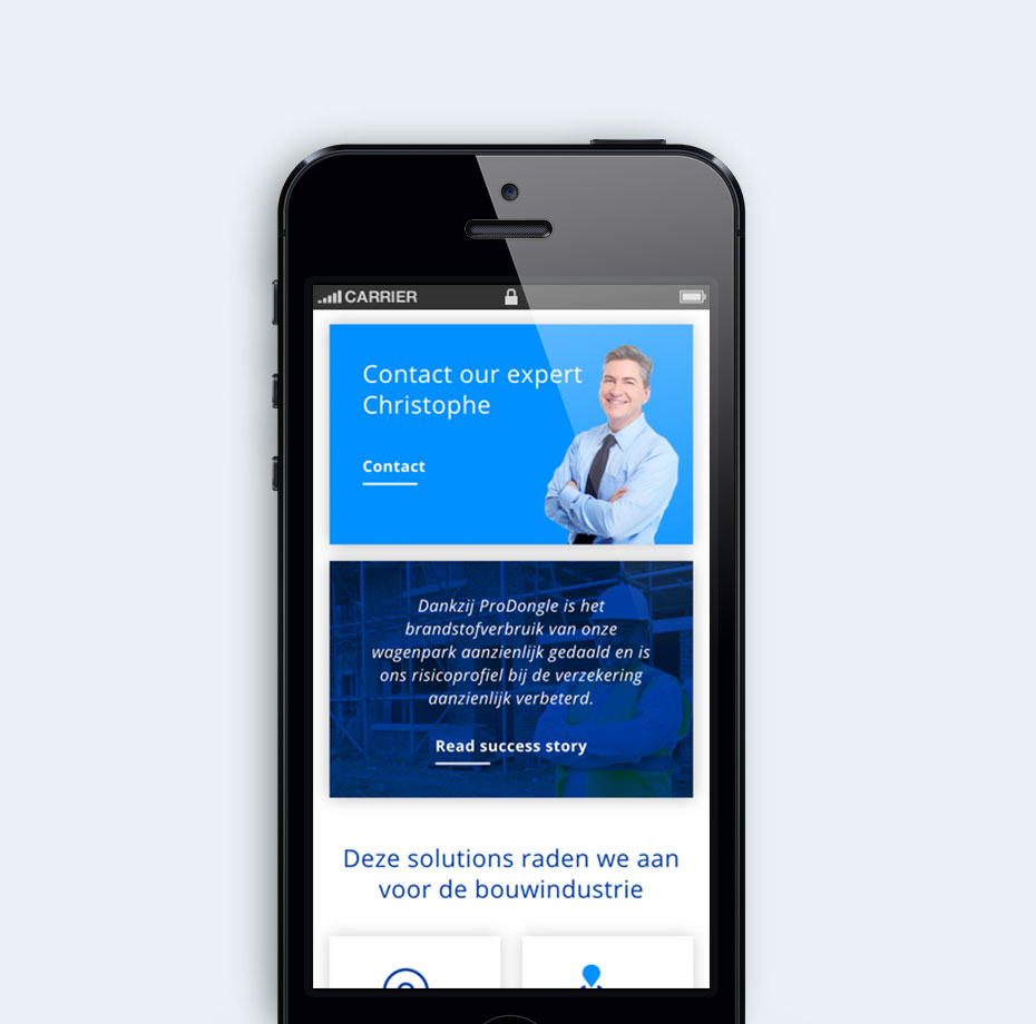 ProDongle website – screenshots