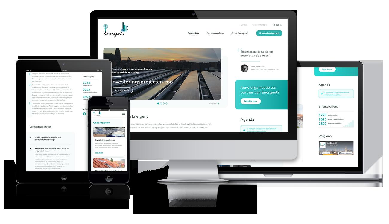 EnerGent – Website on different screens