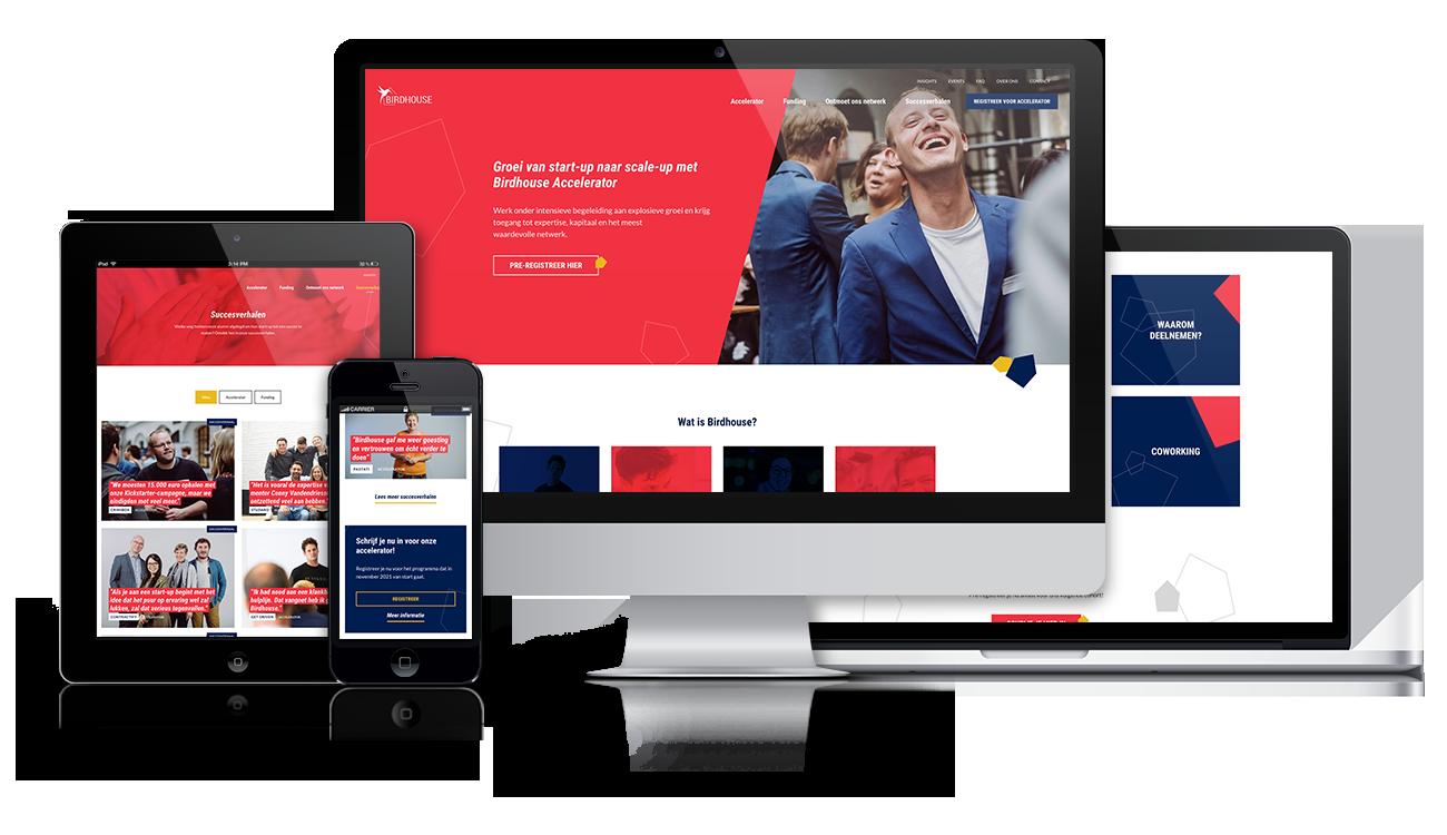 Birdhouse – Website on different screens